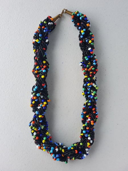 African Multi-coloured Beaded Necklace