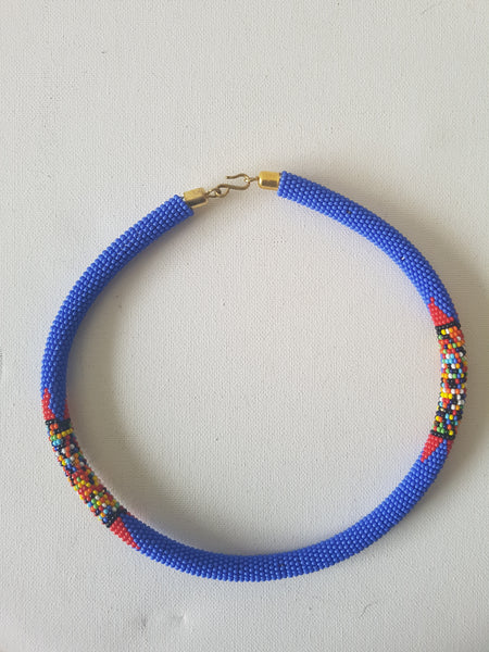 Blue chocker A