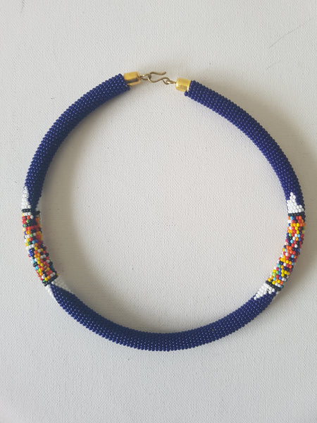 Dark blue chocker A