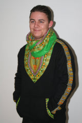 Black Snoody with Green in-built scarf