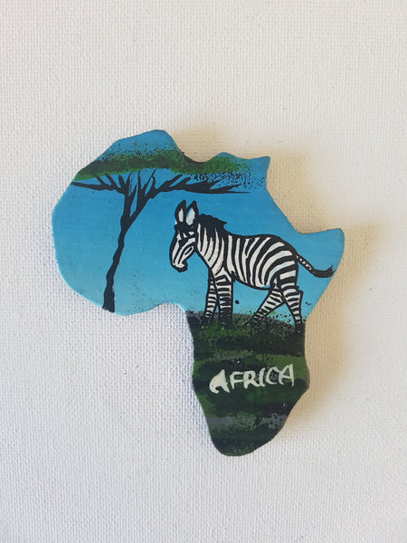 Map of Africa (Nature and Zebra)