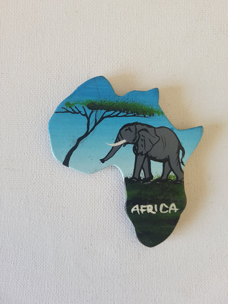 Map of Africa (Nature and elephant)