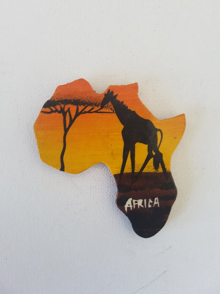 Map of Africa (Sunset and Giraffe)