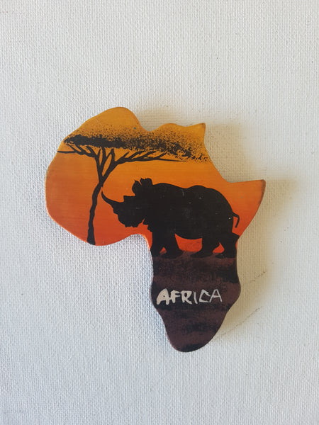 Map of Africa (Sunset and Warthog)