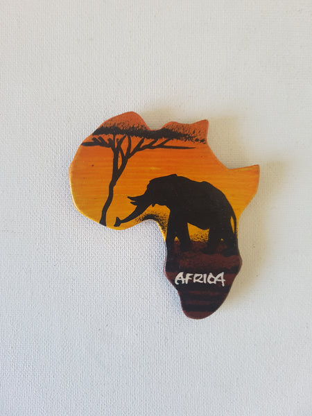 Map of Africa (Sunset and elephant)