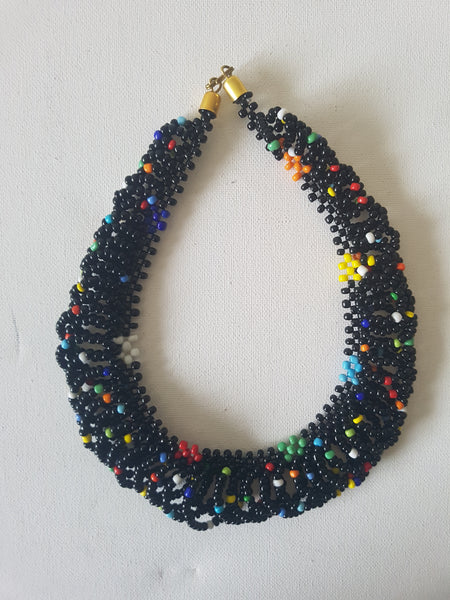 Mixed bead shanga - MJBlack