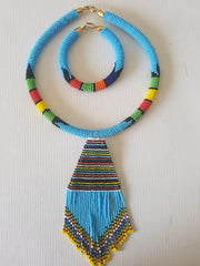 Chands Zulu necklace With Matching Bracelet