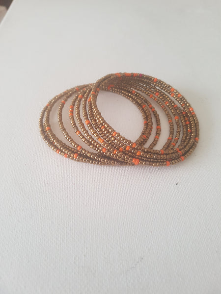 Orange bronze Slinky Bracelet