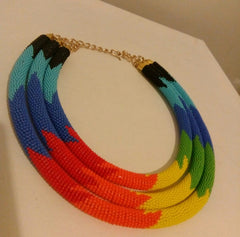 Rainbow zulu necklace