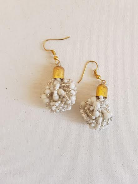 White Mrembo Earings