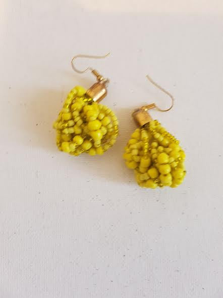Yellow Mrembo Earings