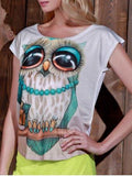 Printed Owl T-Shirt for Women