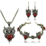 Owl Silver Jewelry Sets