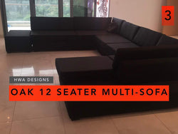 Oak 12 SEATER MULTI SOFA - blackfridayeveryfriday