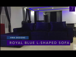 Royal Blue L shaped Sofa - blackfridayeveryfriday