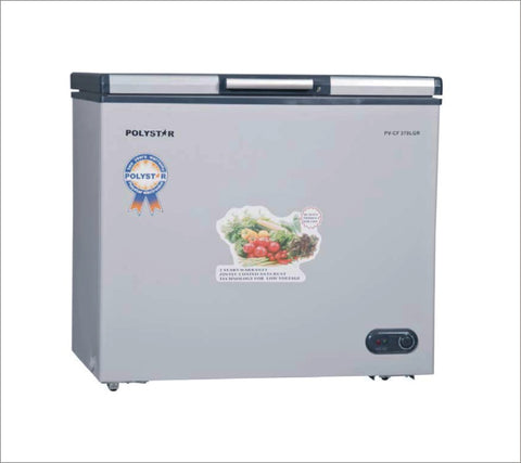 POLYSTAR CHEST FREEZER GREY COLOUR SINGLE DOOR PVCF-359LGR - blackfridayeveryfriday