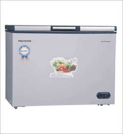 POLYSTAR CHEST FREEZER SILVER COLOUR AND TOP GLASS PVCF-430LGR - blackfridayeveryfriday