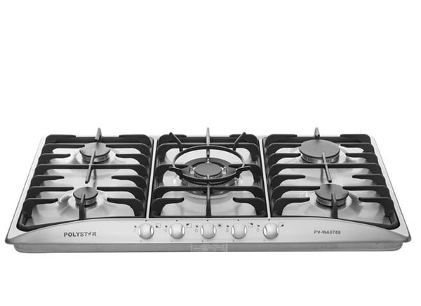 POLYSTAR STAINLESS TABLE GAS COOKER 5 BURNERS - blackfridayeveryfriday