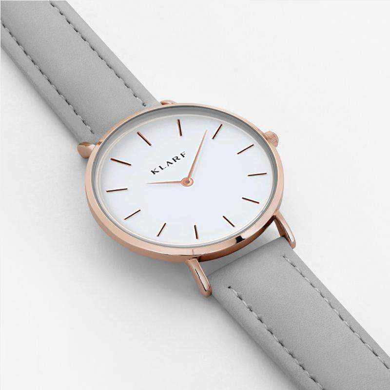 Montre - Klarf - Grey & Gold