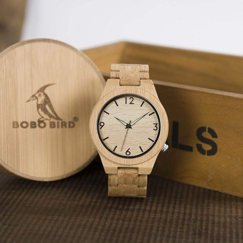 Montre - Wood Bird & Coffret
