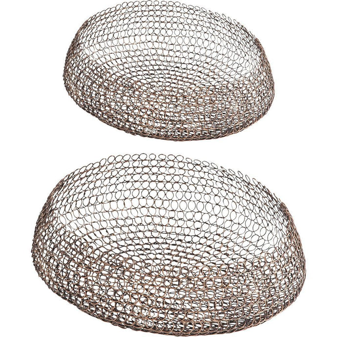 Filum Bronze Wire Mesh Baskets - Set of 2 | Tabletop | parker-gwen