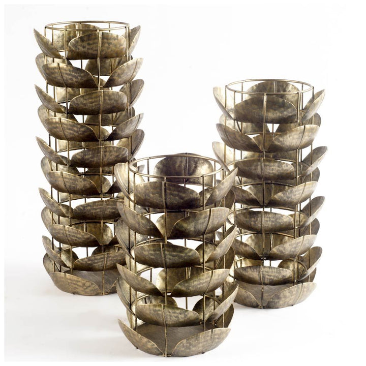 "Henley Metal Petals Candle Holder: 10"", 13"", or 16"""