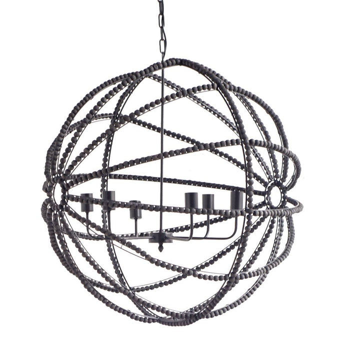 Ava Ornate Beaded Chandelier (Black) | Chandelier | parker-gwen