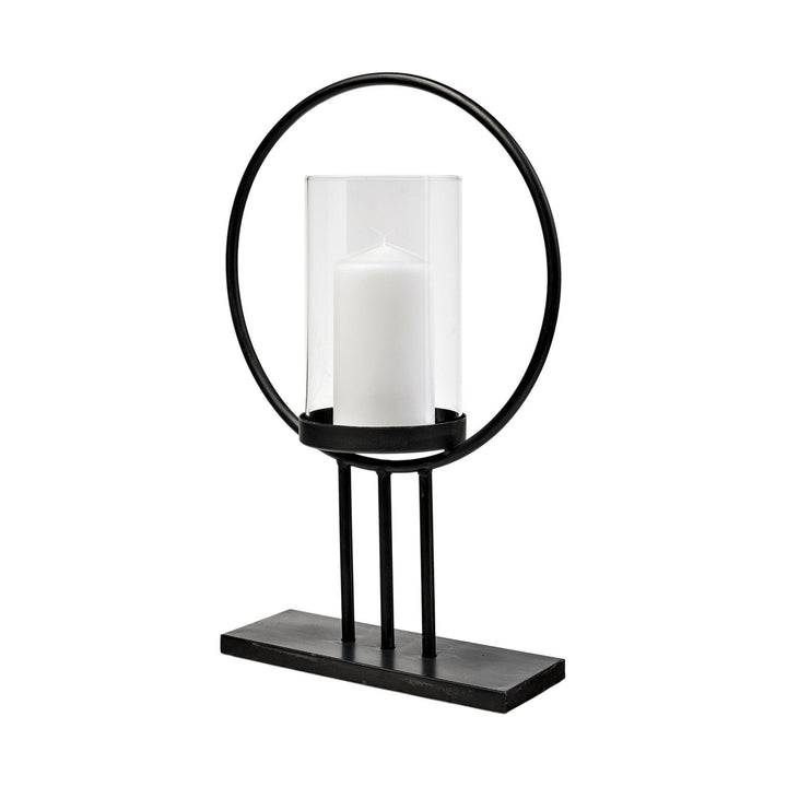 "Saturn Metal Round Candle Holder - 16"" and 18"" Options 