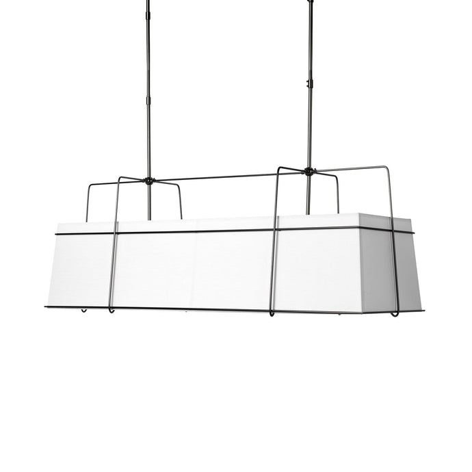 Endicor White Shade Framed Chandelier | Chandelier | parker-gwen