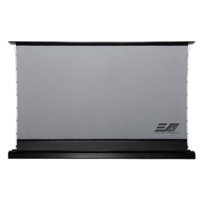 "Elite Screens ProAV® Kestrel Tab-Tension DarkUST, 16:9, Ultra-Short Throw Ceiling Ambient Light Rejecting (CLR®/ALR) Electric Floor-Rising Projector Screen (100"" or 120"" Available)"