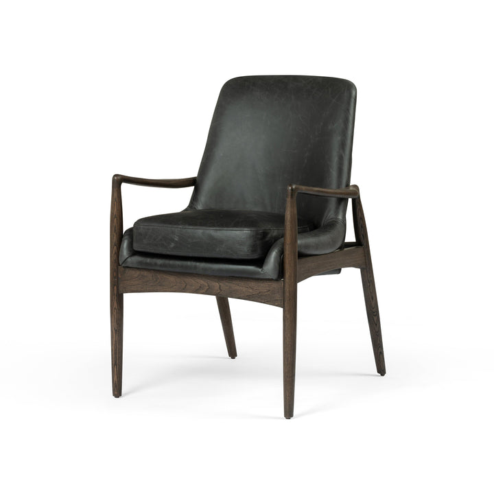 Braden Leather Dining Armchair (Durango Smoke) | Dining Chair | parker-gwen.