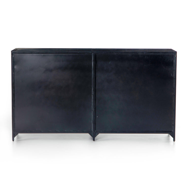 "Belmont 8-Drawer 70"" Metal Dresser (Black)"