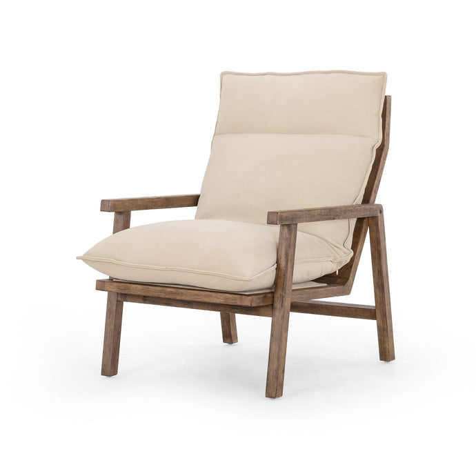Orion Leather Accent Chair (Nubuck Sand) | Accent Chair | parker-gwen