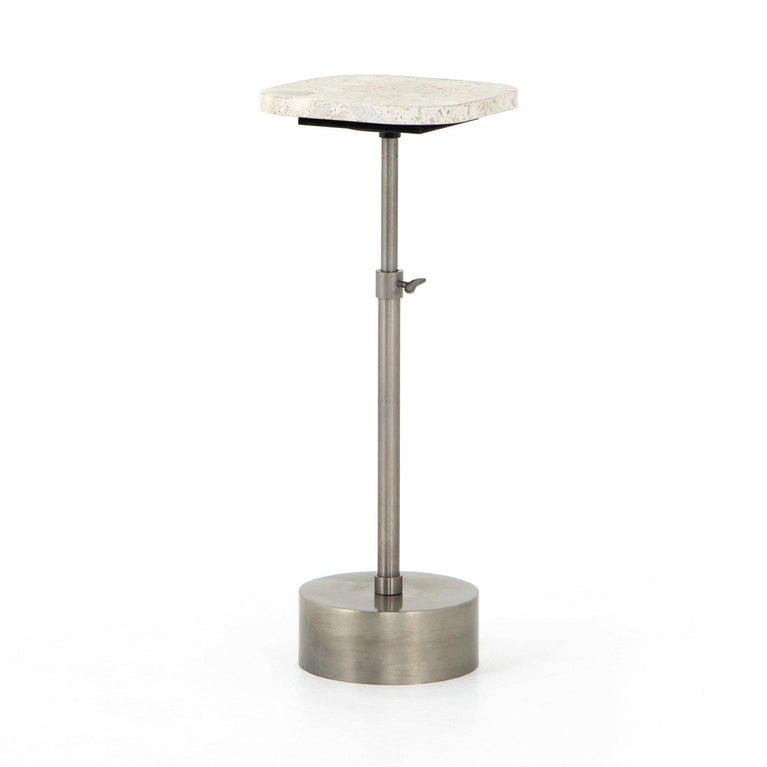 Ronan Terrazzo Drink Table (Polished White)