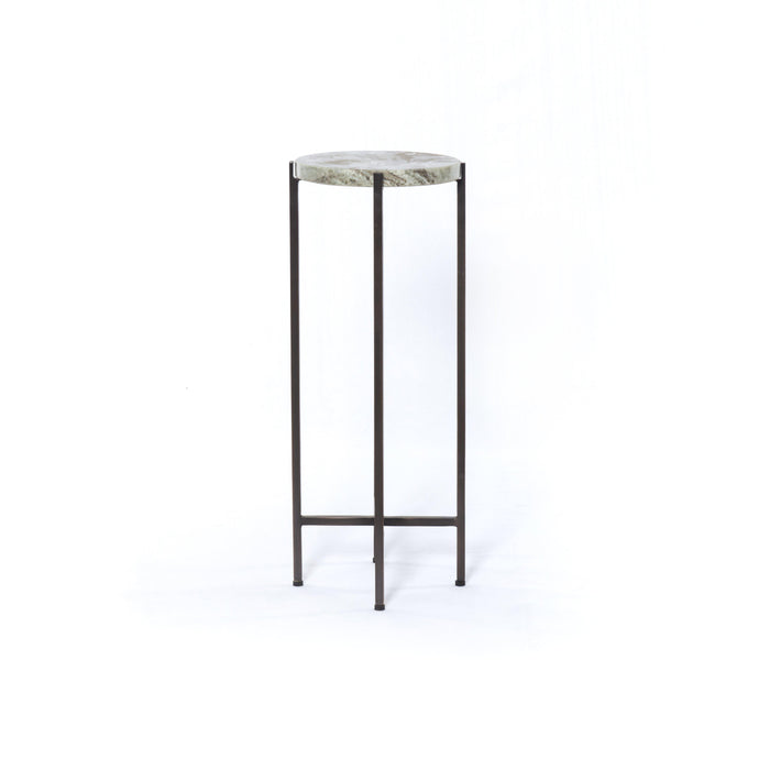 Hannah Small Marble Accent Table (Ash Brown) | Side Table | parker-gwen.