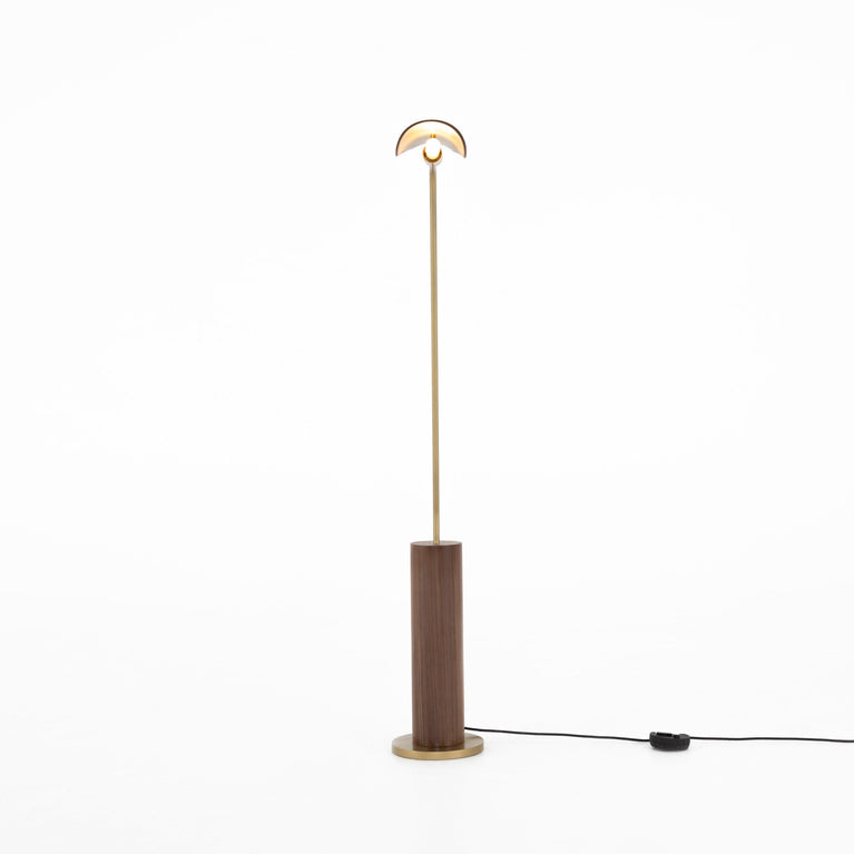 Astrid Floor Lamp (Dark Brown Leather)