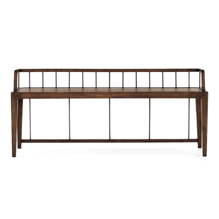 "Howard 60"" Wood Bench (Pecan)"