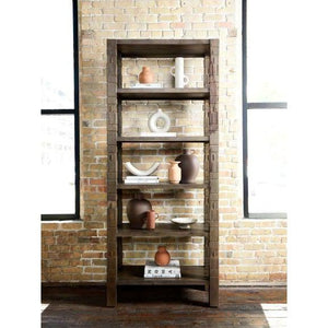 "Burge 86"" Carved Wood Bookshelf"