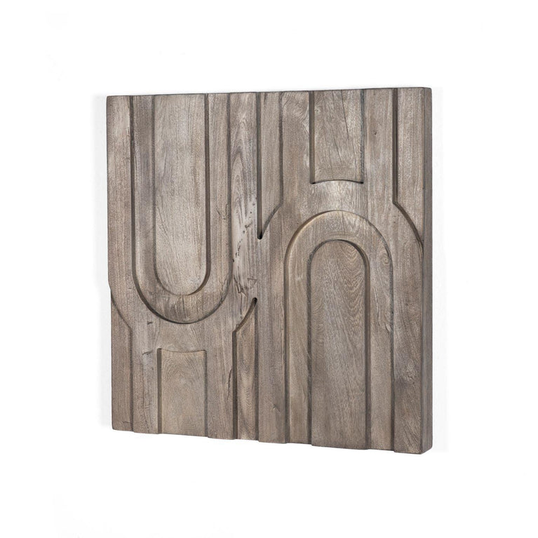 "Rivka 24"" Reclaimed Wood Arch Wall Tile"