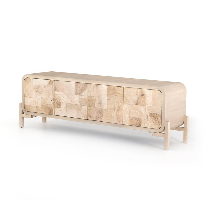 "Wiley 74"" Media Console (Bleached Burl)"