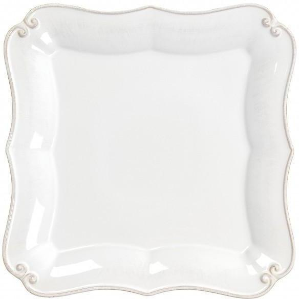 Vintage Port Square Dinner Plate: Set of 4 (White)-Plate-Parker Gwen