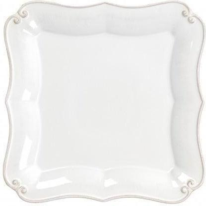 Vintage Port Square Salad Plate: Set of 4 (White)-Plate-Parker Gwen