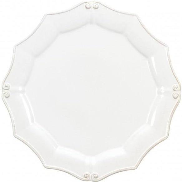 Vintage Port Round Dinner Plate: Set of 6 (White) | Plate | parker-gwen