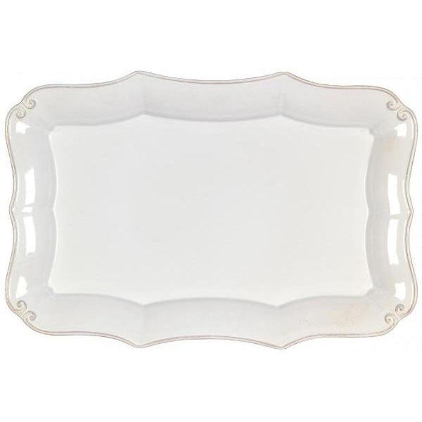Vintage Port Rectangular Serving Platter (White) | Platter | parker-gwen