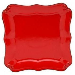 Vintage Port Square Bread Plate: Set of 4 (Red)