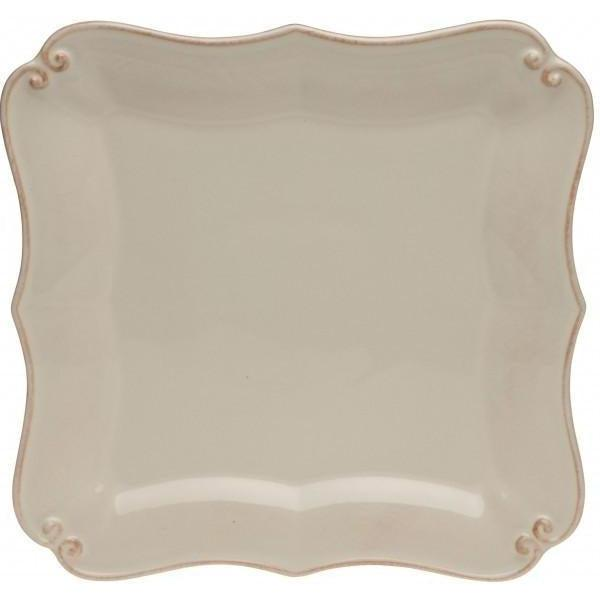 Vintage Port Square Dinner Plate: Set of 6 (Cream) | Plate | parker-gwen