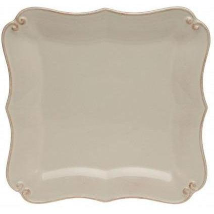 Vintage Port Square Salad Plate: Set of 4 (Cream)-Plate-Parker Gwen