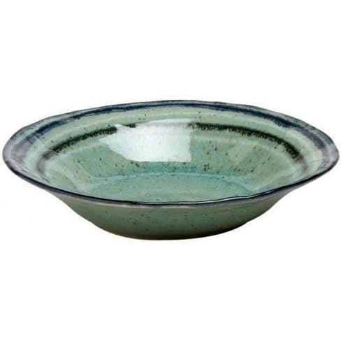 "Sausalito 8.75"" Individual Pasta/Soup Bowl: Set of 4 (Green)-Bowl-Parker Gwen"