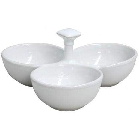 COOK & HOST 3-Section Appetizer Dish (White) - Parker Gwen