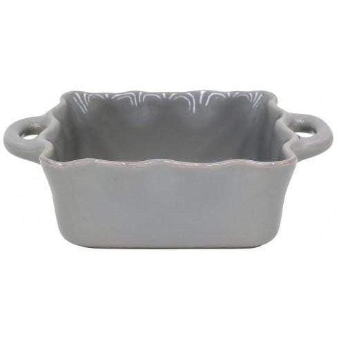 COOK & HOST Square Ruffled Baking Dish (Grey) - Parker Gwen